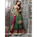 Fab Sea Green Net Anarkali Suit
