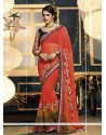 Red Georgette Designer Sraee