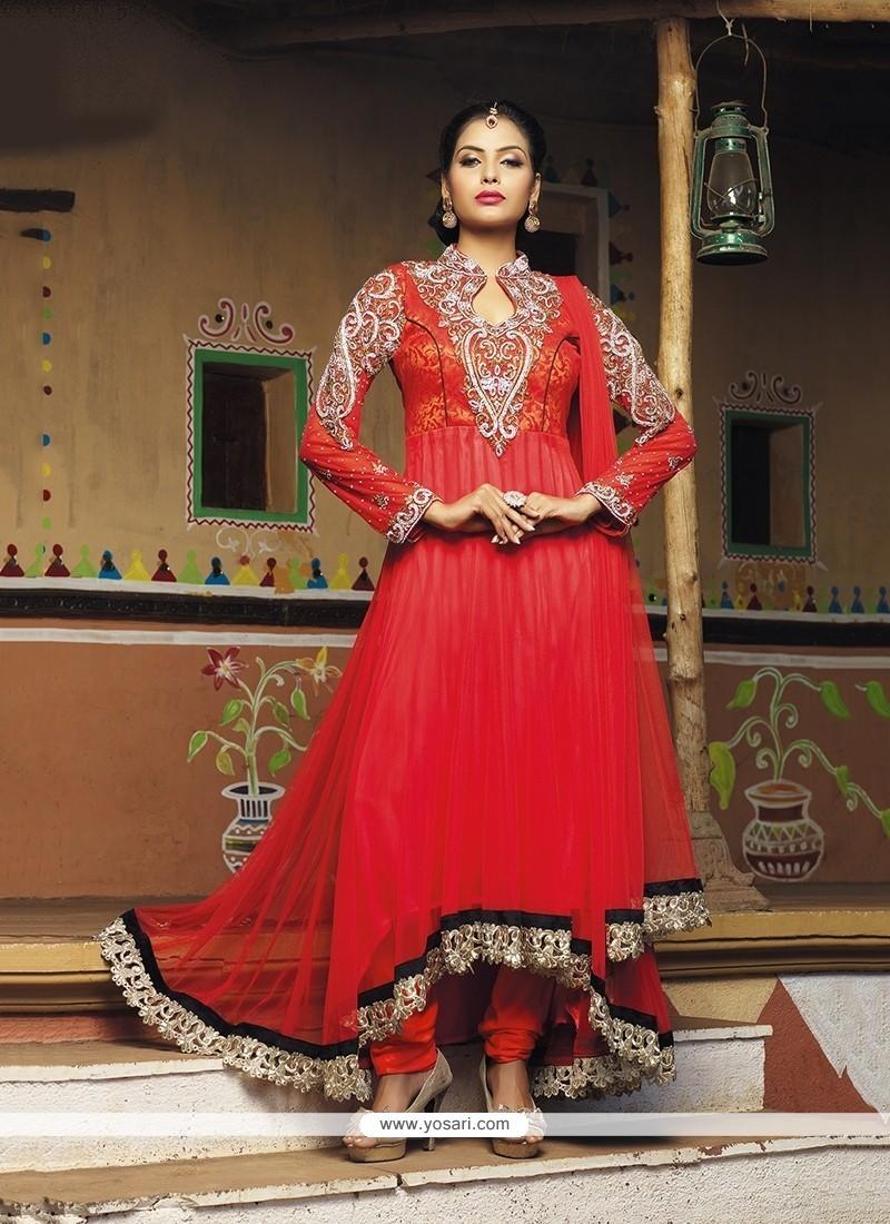 e13f5af3315 Shop online Pristine Patch Border Work Anarkali Salwar Kameez