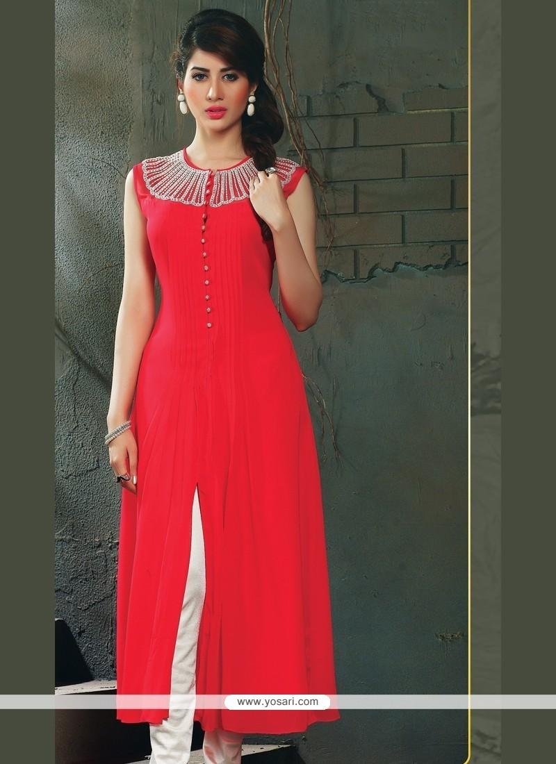 24963dc57eb Shop online Pristine Embroidered Work Party Wear Kurti