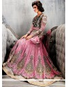 Hot Pink Georgette Anarkali Suit