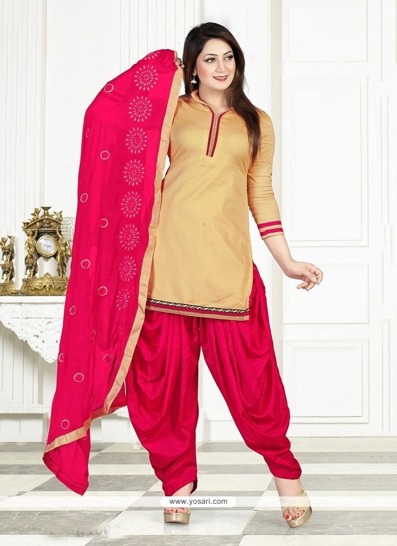 Shop Online Alluring Cotton Lace Work Designer Patiala