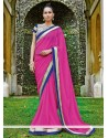 Pink Chiffon Party Wear Saree