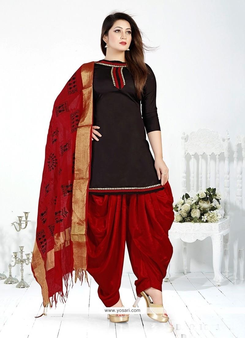 e527405639 Shop online Impressive Cotton Lace Work Designer Patiala Salwar Kameez