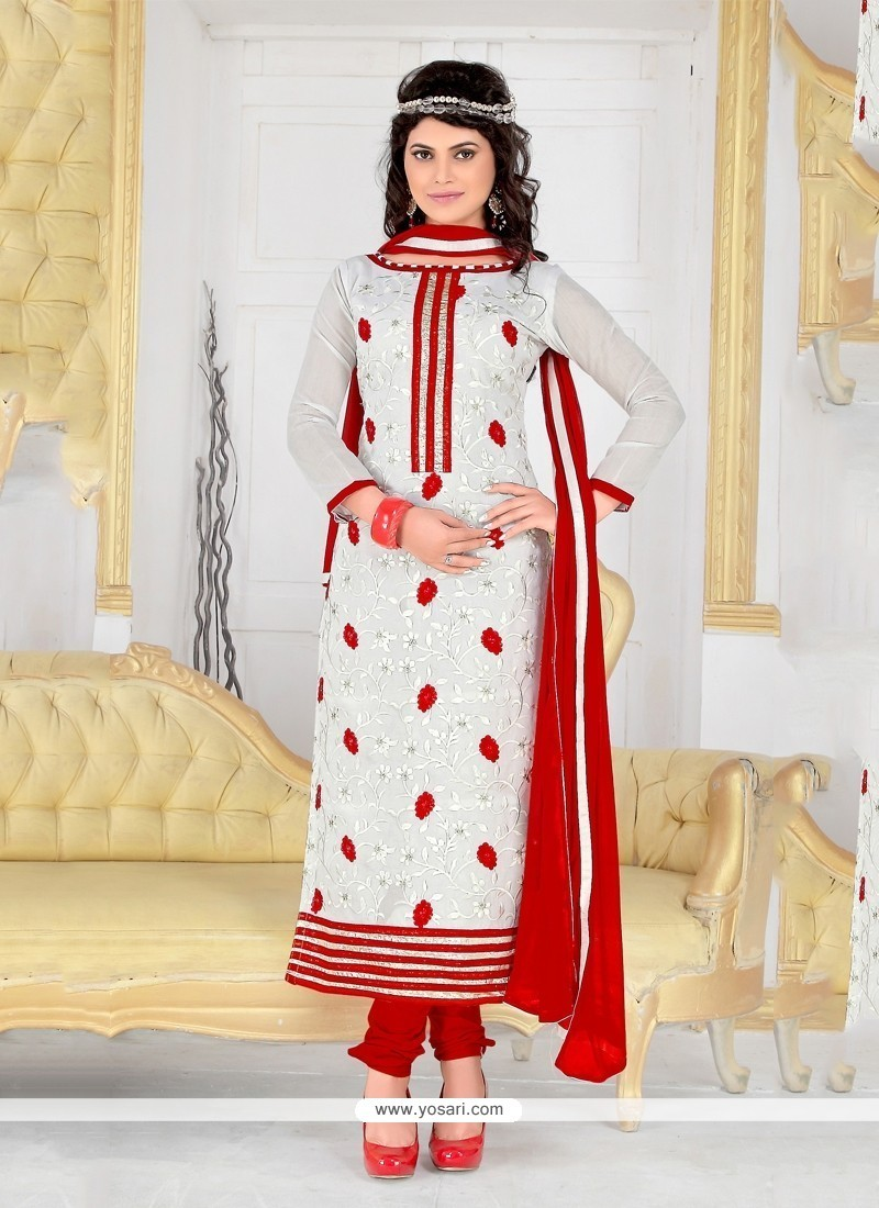 60f019f653 Shop online Buy Groovy Chanderi Cotton Off White Churidar Designer ...