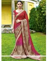 Fab Maroon Shaded Chiffon Saree