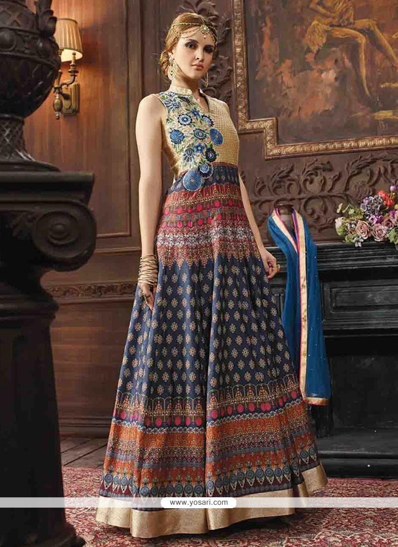 3e8ac81c616 Shop online Buy Urbane Multi Colour Anarkali Salwar Kameez Online ...
