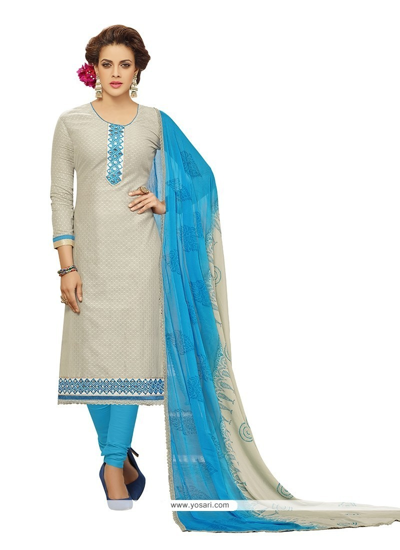 Shop online Buy Piquant Embroidered Work Churidar Designer Suit ...