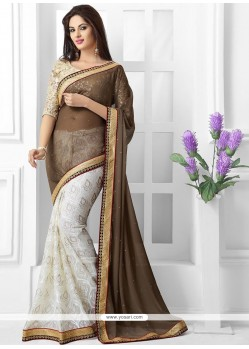 Off White Brasso Designer Saree