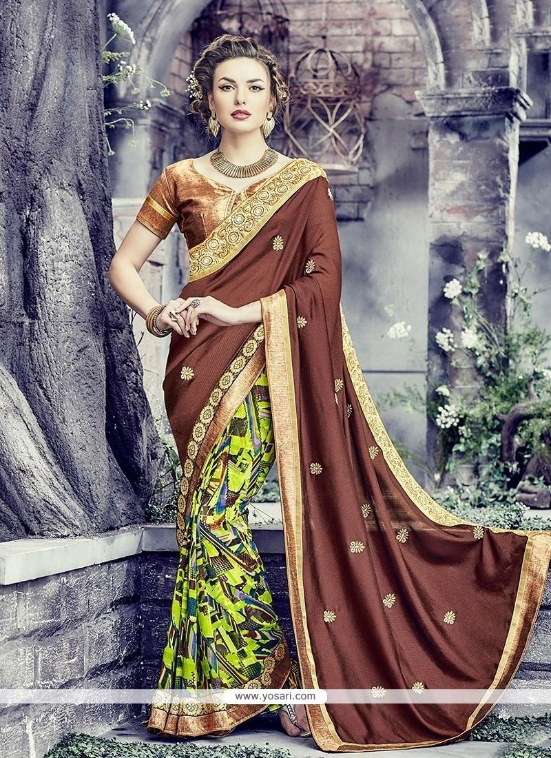 24ff4873653c71 Shop online Buy Vibrant Georgette Multi Colour Print Work Designer ...