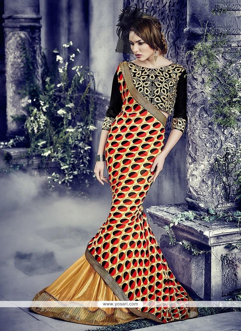 22cd9c21fe Shop online Buy Ethnic Georgette Beige Designer Saree Online : Italy