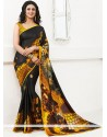 Glorious Black Crepe Saree