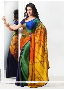 Jaaz Multicolored Crepe Saree