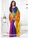 Elite Multicolored Crepe Saree