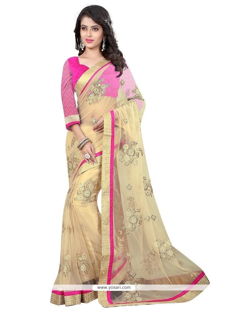 Winsome Net Embroidered Work Designer Saree