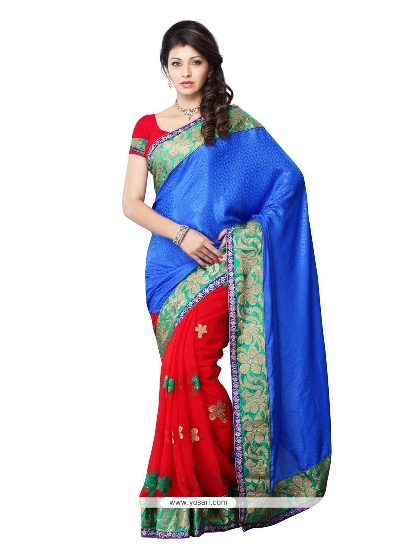 Remarkable Red Designer Saree