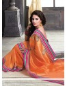 Fab Orange Pure Jute Saree