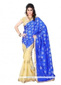 Unique Blue Designer Saree