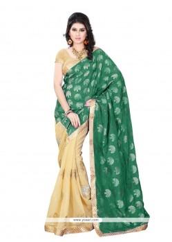 Remarkable Jacquard Embroidered Work Designer Saree