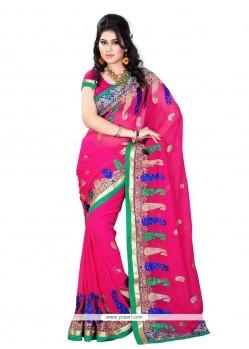Superlative Hot Pink Designer Saree