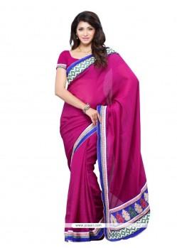 Renowned Art Silk Magenta Designer Saree