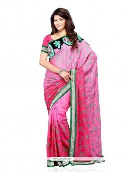 Voluptuous Art Silk Embroidered Work Designer Saree