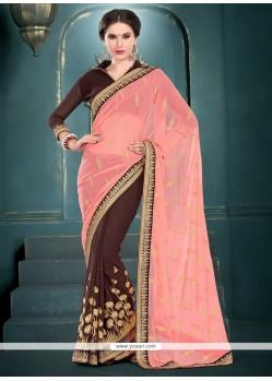 Dashing Brown Designer Saree