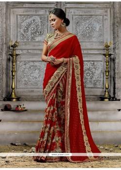Sunshine Georgette Multi Colour Designer Saree