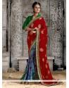 Radiant Georgette Multi Colour Designer Saree
