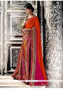 Specialised Georgette Multi Colour Designer Saree