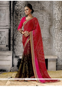 Modern Georgette Multi Colour Designer Saree