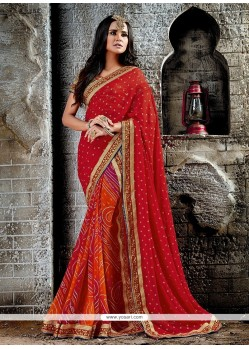 Extraordinary Red Designer Saree