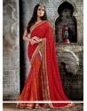 Extraordinary Red Designer Saree