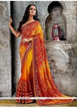 Intrinsic Print Work Designer Saree