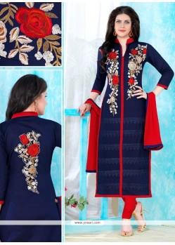 Heavenly Cotton Churidar Designer Suit