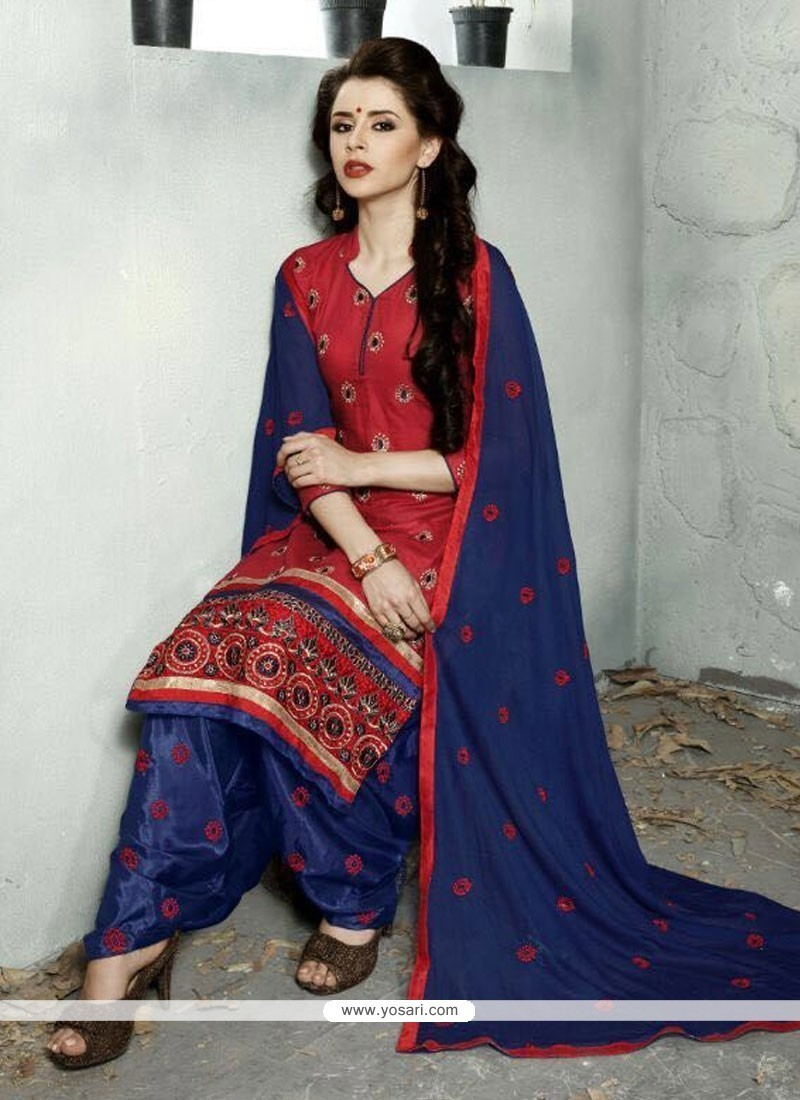 b0c296af7e Shop online Buy Marvelous Red Trendy Punjabi patiala Suit Online ...