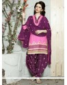 Winsome Cotton Resham Work Trendy Punjabi patiala Suits