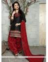 Sunshine Cotton Black Trendy Punjabi patiala Suits