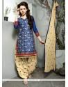 Especial Navy Blue Cotton Trendy Punjabi patiala Suits