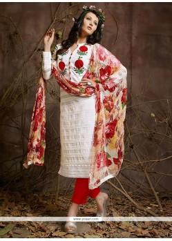 Off White Cotton Designer Suit