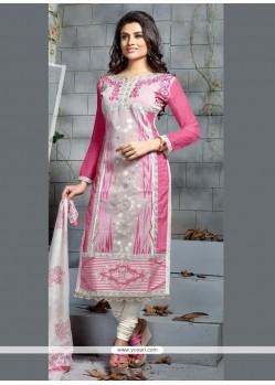 Absorbing Pink Churidar Designer Suit