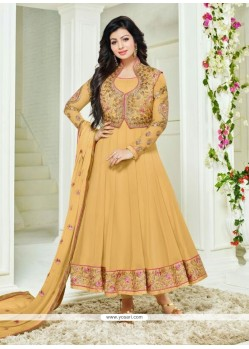 Ayesha Takia Yellow Embroidered Work Anarkali Salwar Kameez
