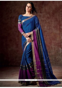 Awesome Cotton Patch Border Work Casual Saree