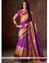 Artistic Purple Cotton Casual Saree