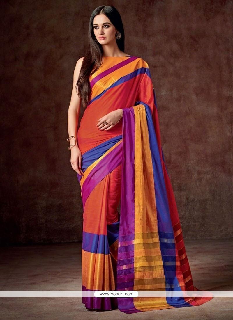 Immaculate Cotton Multi Colour Casual Saree