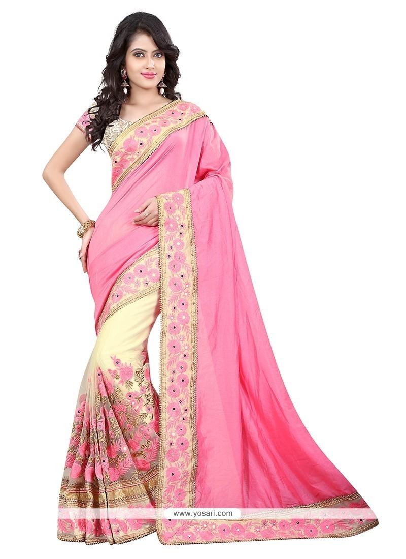 Best Patch Border Work Designer Saree