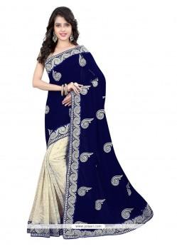Imperial Net Navy Blue Designer Saree