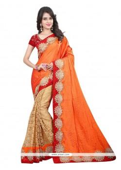 Floral Net Embroidered Work Designer Saree
