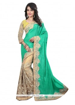 Prodigious Art Silk Embroidered Work Designer Saree