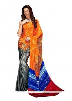 Deserving Crepe Silk Multi Colour Casual Saree